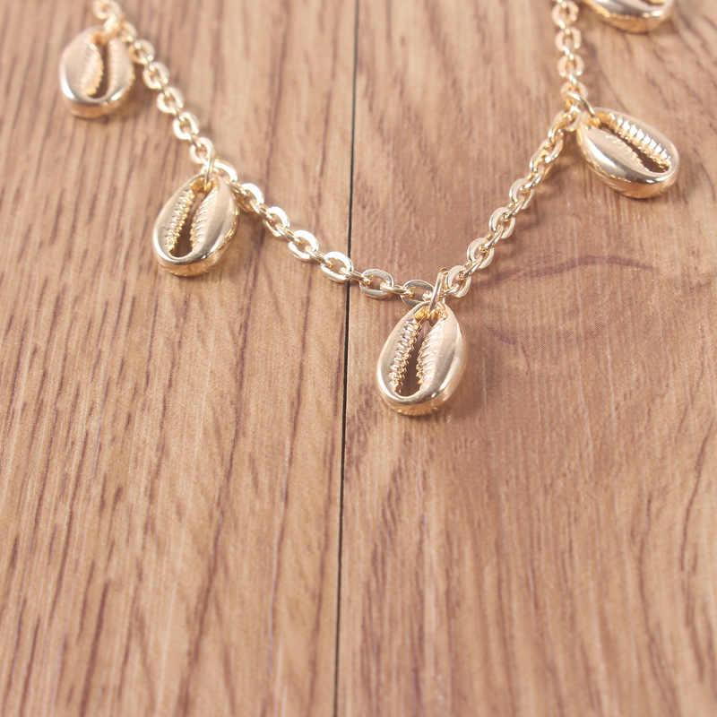 החדש בוהמיה חרוזים חבל שרשרת Anklets לנשים מעטפת רגל תכשיטי זהב צמיד קרסול על רגל נקבה קרסול רצועת 2019