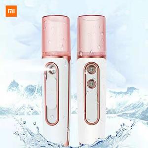 Image 2 - Tflag Dual Hole Nano Spray Water Supply Instrument Charging Xiomi Portable Humidifier Water Supply Instrument With Power Bank