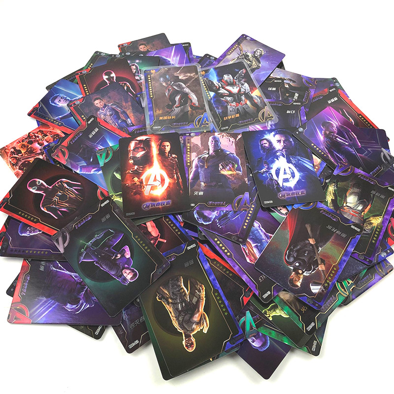 Marvel Avengers Captain America Shield Collection Card Spider-Man Iron Man Green Giant Batman Collection Card Card