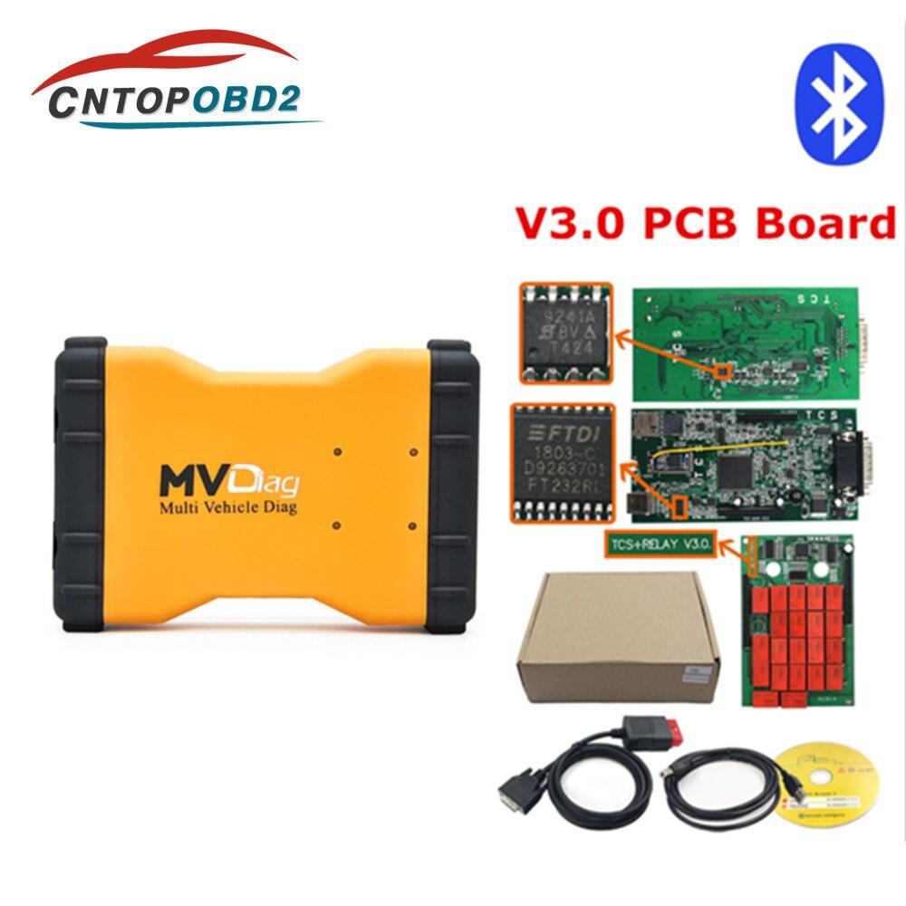 Bluetooth mvdiag V3 0 Multi Diag MVD 2016 00 with keygen W5 00 12 Software for autocoms NEC relays Cars Trucks OBD2 Diagnostic