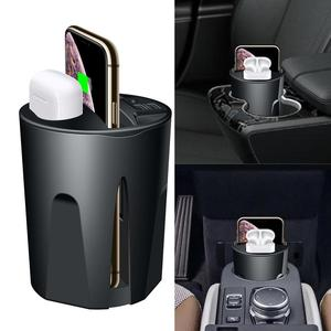 Image 1 - 696 X9 QI Car Wireless fast Charger cup for iphone Charge holder Charge Stand for Apple XS MAX/XR/X/8 PLUS for samsung note10/9