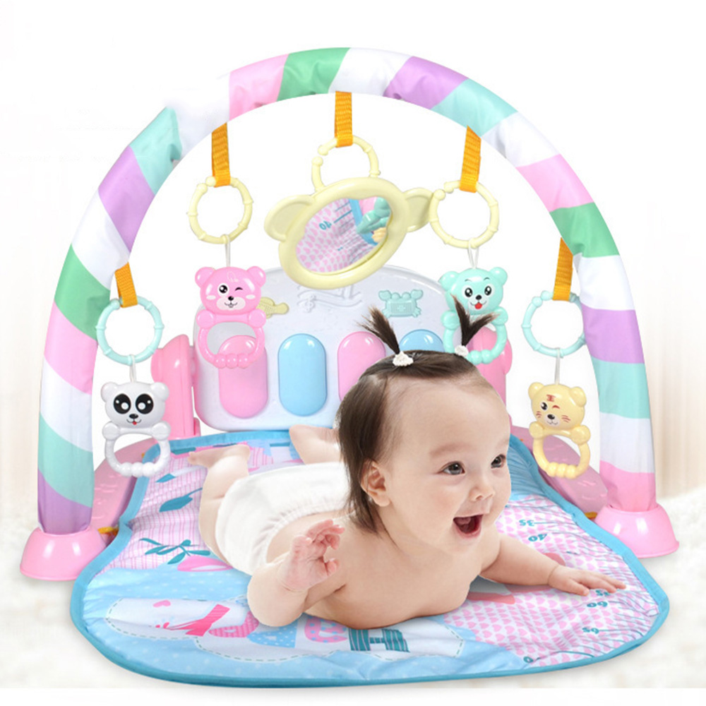 Baby Music Rack Play Mat Kid Rug Puzzle Carpet Piano Keyboard Infant Playmat Newborn Early Education Gym Crawling Game Pad Toy