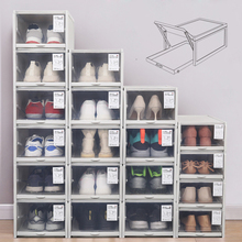 Baffect 2/3 חבילת קופסות נעליים מתלה נעלי פלסטיק Stackable נעל קופסת נעליים ארגונית עבור גבוהה עקבים סניקרס נעלי אחסון מגירות