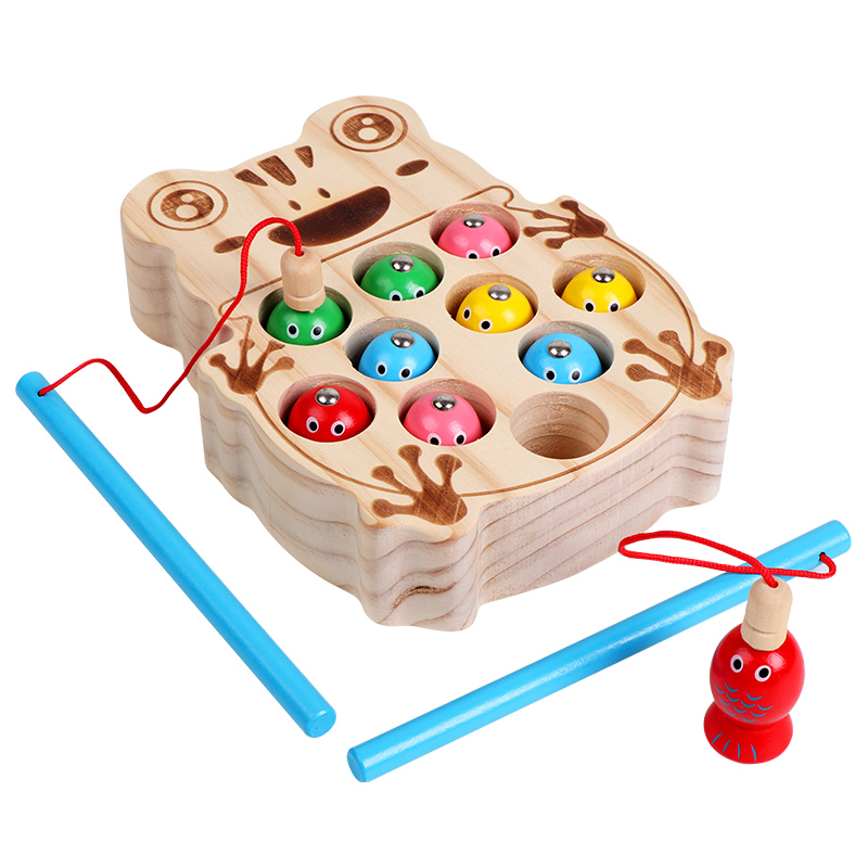 Fishing Toys For Girls Children's Game Wooden Magnetic Fishing Game Early Learning Educational Toys For Children Birthday Gifts