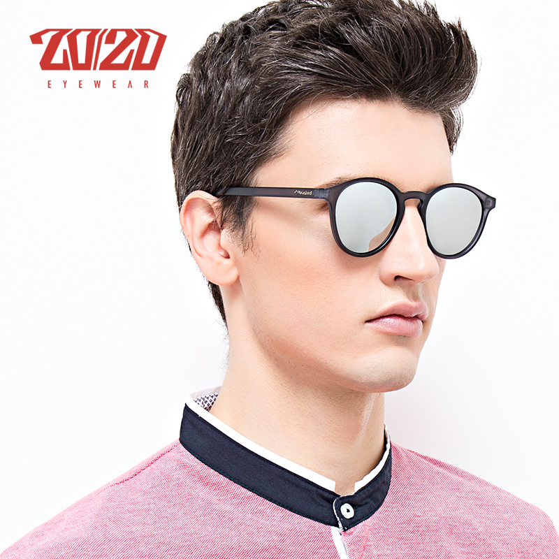 20/20 Design Da Marca New Clássico Polarizada Óculos De Sol Dos Homens de Condução Óculos de Sol Redondos Do Vintage Unisex Shades Eyewear para As Mulheres PL324