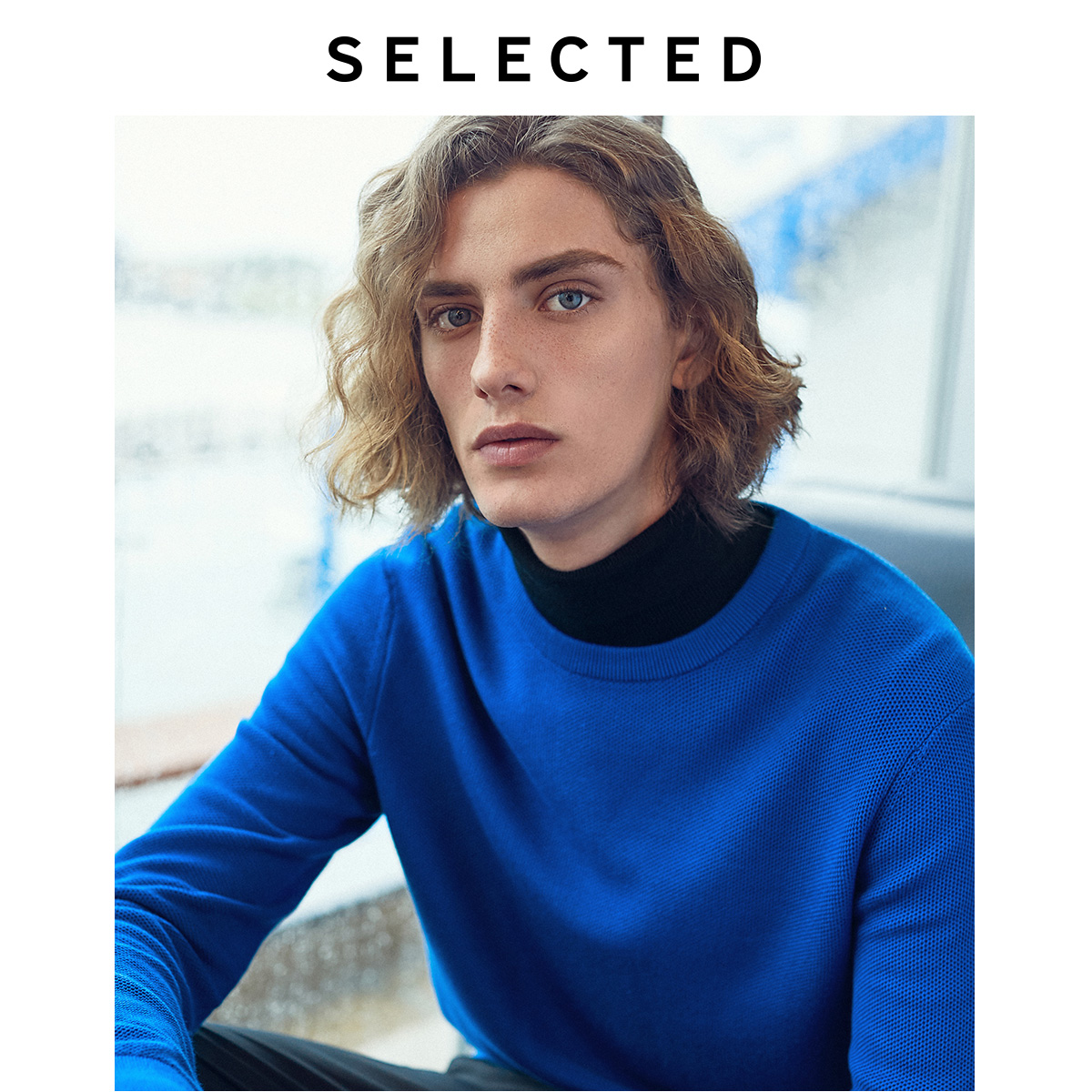 SELECTED Autumn Pullovers Clothes Long-sleeved Men's Round-collar Leisure Knitted Sweater Shirt S | 419324516