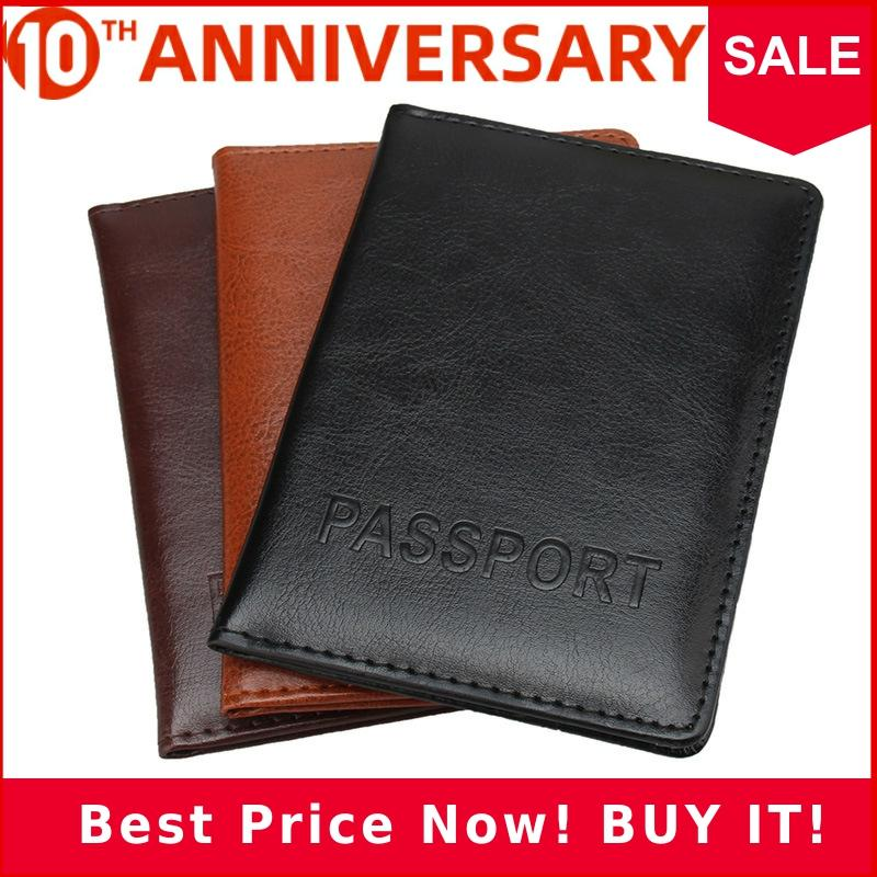 Zoukane Solid Color Simple Letters PU Leather Passoport Cover Case Holder Wallet Travel Accessories Passport Cover ZSPC62
