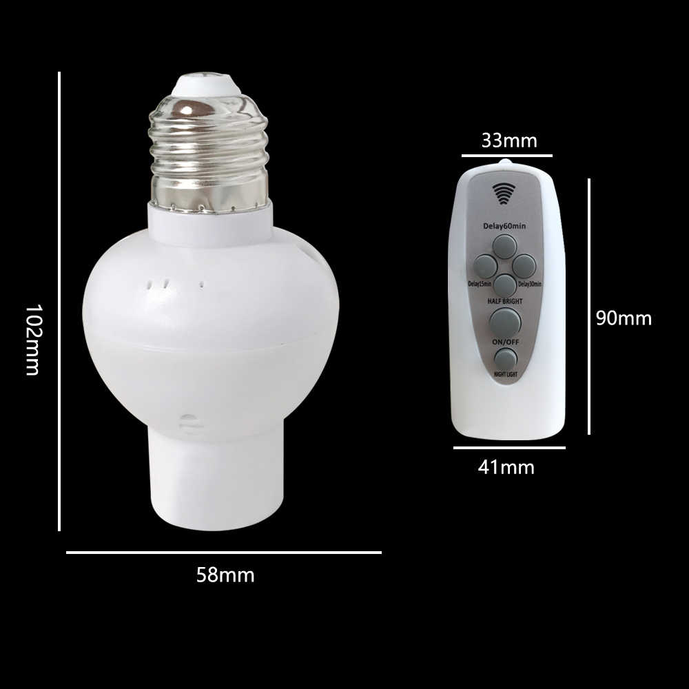E27 สกรู Sokcet สมาร์ทรีโมทคอนโทรลรองรับ Dimming & เกมส์จับเวลาสำหรับ AC85-265V โคมไฟ LED Night Light