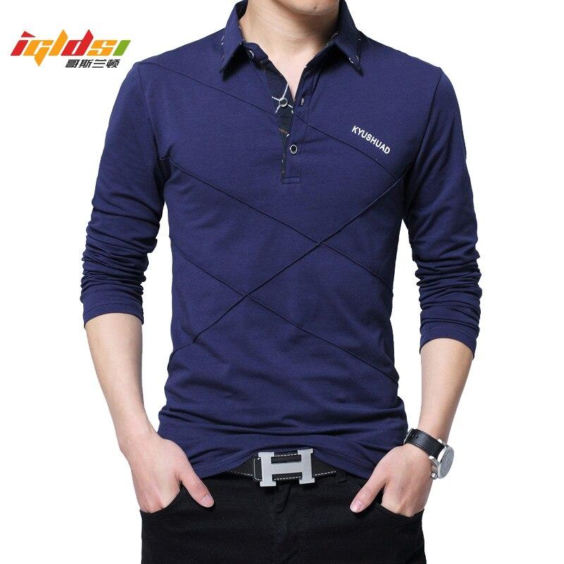 Plus Size 4XL 5XL Polo Shirt Men's Spring Autumn Polo Shirt Long Sleeve Casual Male Camisa Shirt Mens Polo Shirts