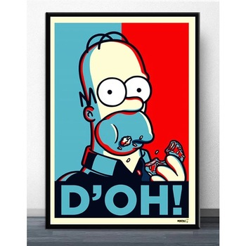 Abstract Modern Picture Simpson Scream for Home Decoration Poster  1