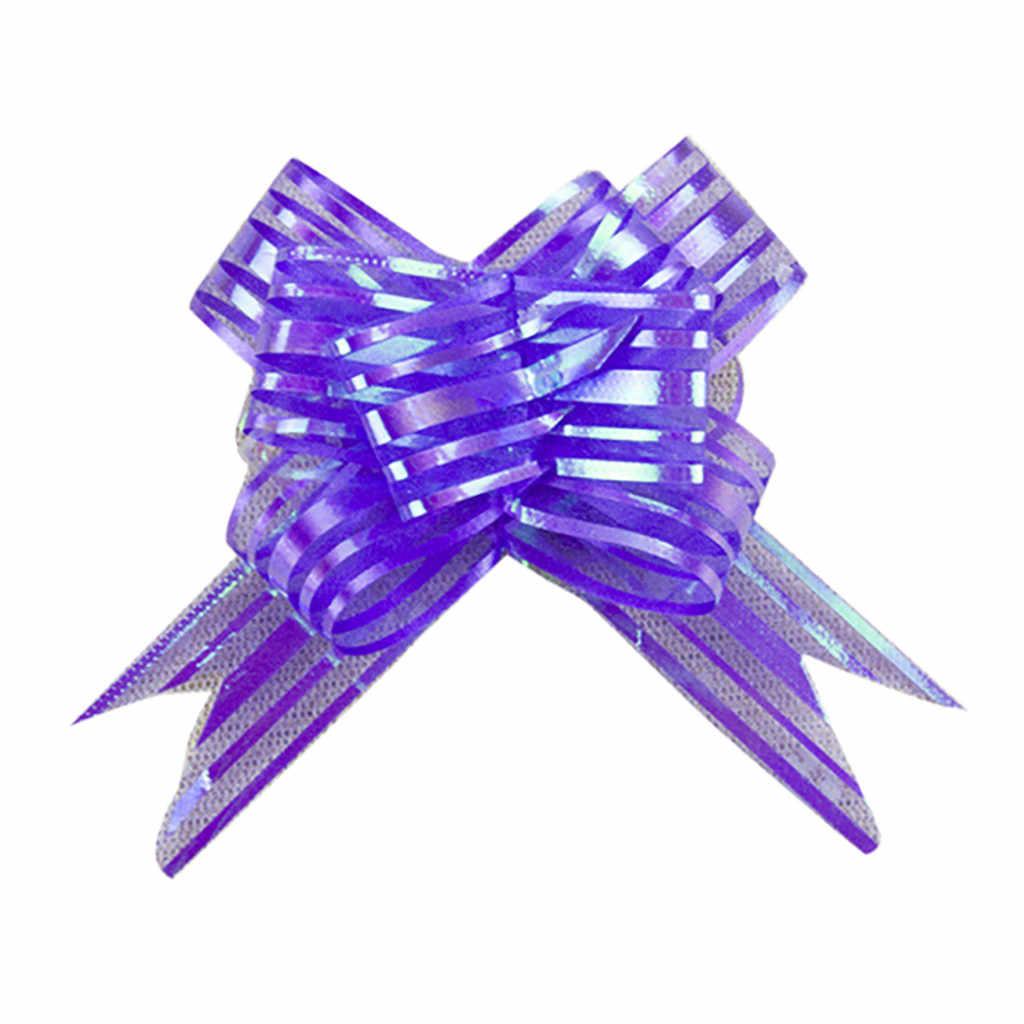 10pcs Wrap Ribbon Gift Ribbon Bow Flower Wedding Christmas Gift Party Decorative Gift Wraps Decoration Gift Box Decors