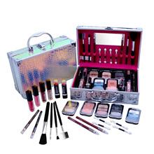 24 szt Wszystko w jednym zestawy do makijażu zestaw kosmetyków (błyszczyki do ust pomadki kredki do ust kredki do brwi cienie do powiek rumieniec pędzel wacik) tanie tanio CN (pochodzenie) 950g Make-Up Set 24Pcs Cosmetics Kit