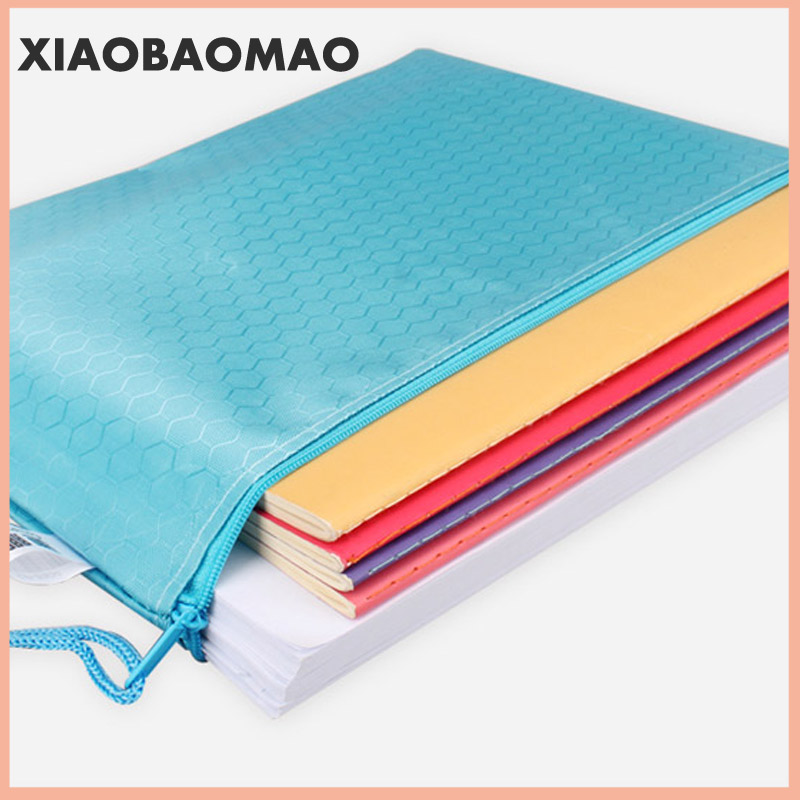 Canvas B8 A6 A5 B5 A4 B4 A3 Zipper Bags Colorful Document Pouch File Bag File Folder Stationery School Words Filing Production 3