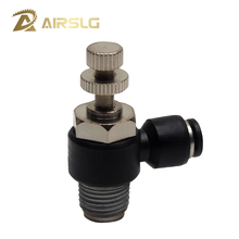 10PCS/Lot Free shipping Pneumatic fitting SL6-1 1/8-6mm Throttle valve pressure reduce control regulating SL4-M5 4-01 6-M5 8-01