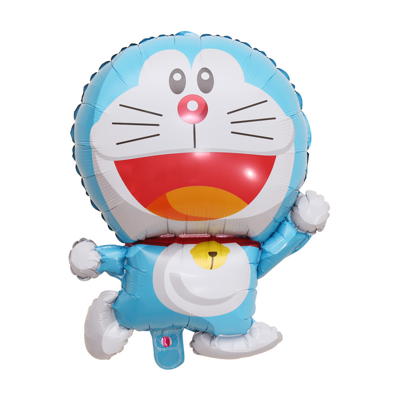 Genuine Standing Blue cat Shape Aluminum Foil Balloon Children\'s Birthday Decoration Wedding Arrangement-4