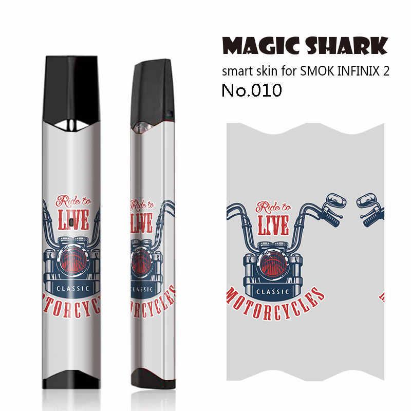 ماجيك القرش الجمجمة أوراق دراجة نارية النمر الذئب Vape غطاء حالة ل Infinix II ملصق كامل التفاف فيلم ل Smok Infinix 2 قرنة