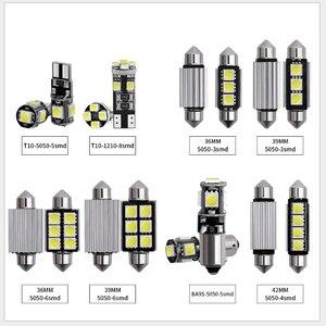 14 шт. CAN-bus безотказный W5W T10 светодиодный интерьерный светильник, комплект для Audi A3 8P 2004-2013, посылка, заменяющая лампы, белый автомобильный Ста...