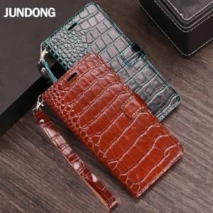 Image 2 - Flip Case For Huawei P10 P20 P30 lite Mate 10 20 lite Pro  Y6 Y7 Y9 P Smart 2019 Crocodile Grain For Honor 7X 8X 9 9X 10 20 lite