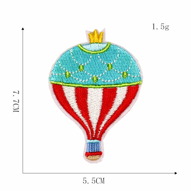 New Computer Embroidery Cloth Paste Custom Clothing Supplemented By Hot Air Balloon Embroidery Patch