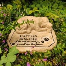 Pet Memorial Stones Personalized Dog Memorial Stones Tombstones Outdoors or Indoors for Garden Backyard Grave Markers