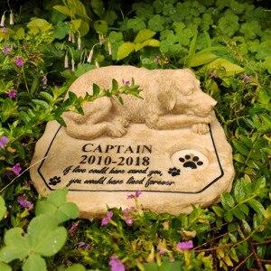 Pet anıt taşları kişiselleştirilmiş köpek anıt taşları mezar taşları açık havada veya kapalı bahçe Backyard için mezar belirteçleri