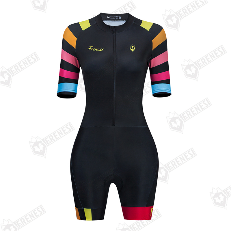 Road Bike FRENESI Clothing Women Cycling Clothes Sexy Jumpsuit Colombia Downhill Suit Triathlon Sports Skinsuit Ropa De Ciclismo