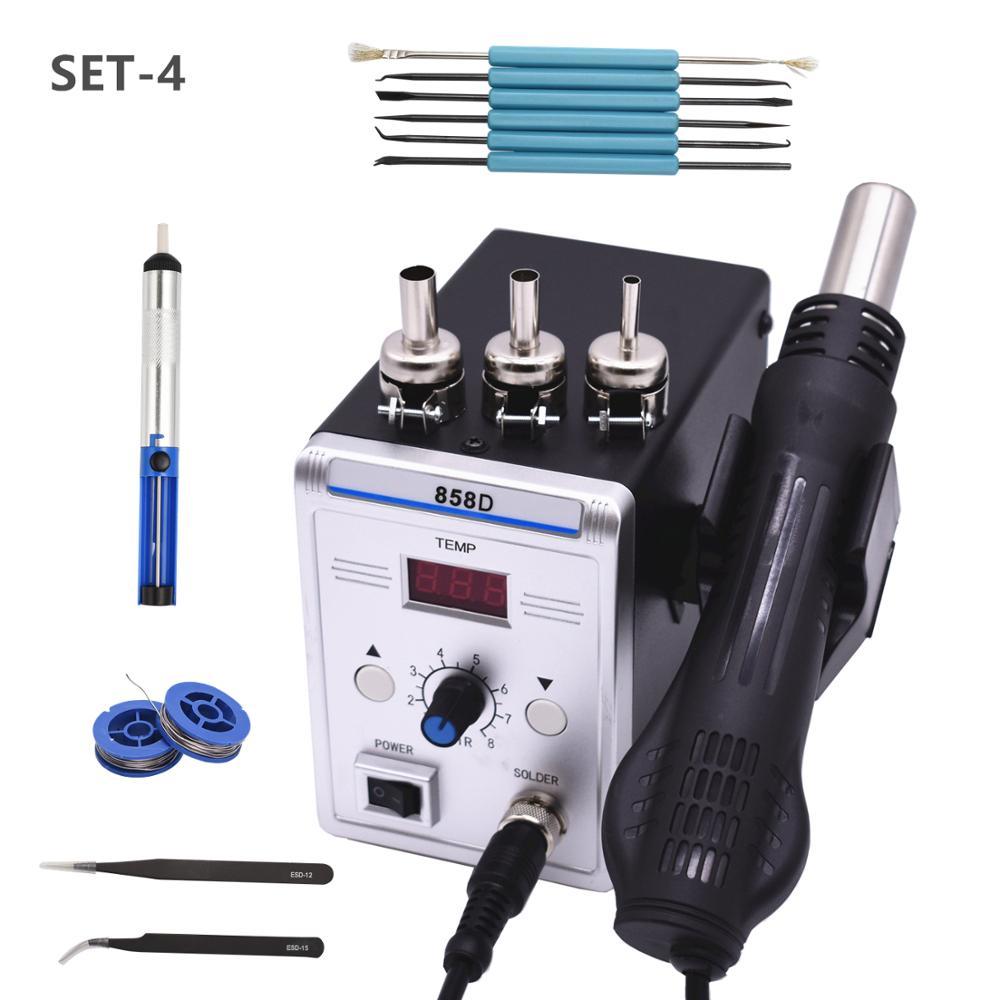 700 Вт 858D пистолет горячего воздуха паяльник для отпайки паяльная станция SMDiron solderiron solder adjustableiron electric  АлиЭкспресс