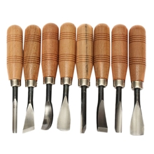 8Pcs/Set Bird Dry Hand Wood Carving Tools Chip Detail Chisel Set Knives Tool