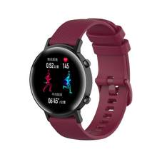 Reloj de pulsera de silicona de repuesto correa de muñeca cubierta de Metal Anti arañazos reloj para Huawei Magic Watch2 42mm(China)
