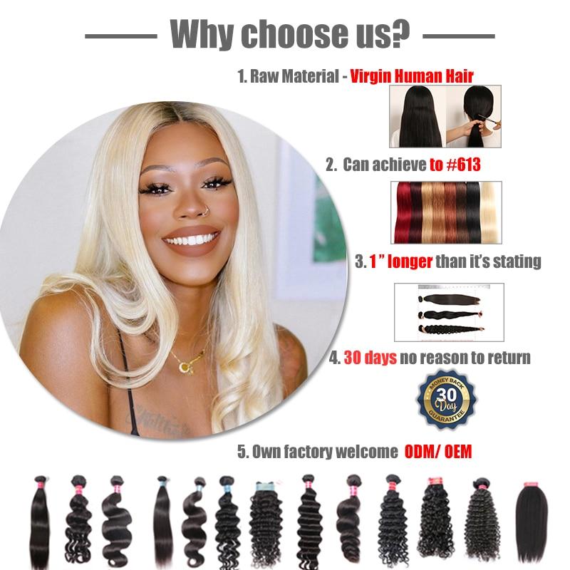 Ali Queen Hair Products Pro. Ratio 9A Brazilian Hair Weave Bundles Loose Wave Human Hair Weaving Natural Color Virgin Hair
