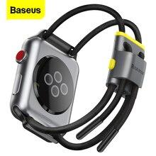 BaseusสำหรับApple 5 4 3 Seriesสายคล้อง 44M 40 มม.38 มม.42 มม.นาฬิกาสร้อยข้อมือกีฬาสำหรับIWatch 5 สายไฟWatchband