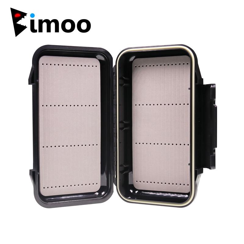 Bimoo 1pc 19.7*11.2cm Porket Streamer Fly Box Waterproof Sturdy Engineer Fishing Box Case With Waterproof Silicone Linear Inside