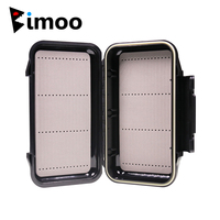 Bimoo 1pc 19.7*11.2cm Porket Streamer Fly Box Waterproof Sturdy Engineer Fishing Box Case with Waterproof Silicone Linear inside|Fishing Tackle Boxes| |  -