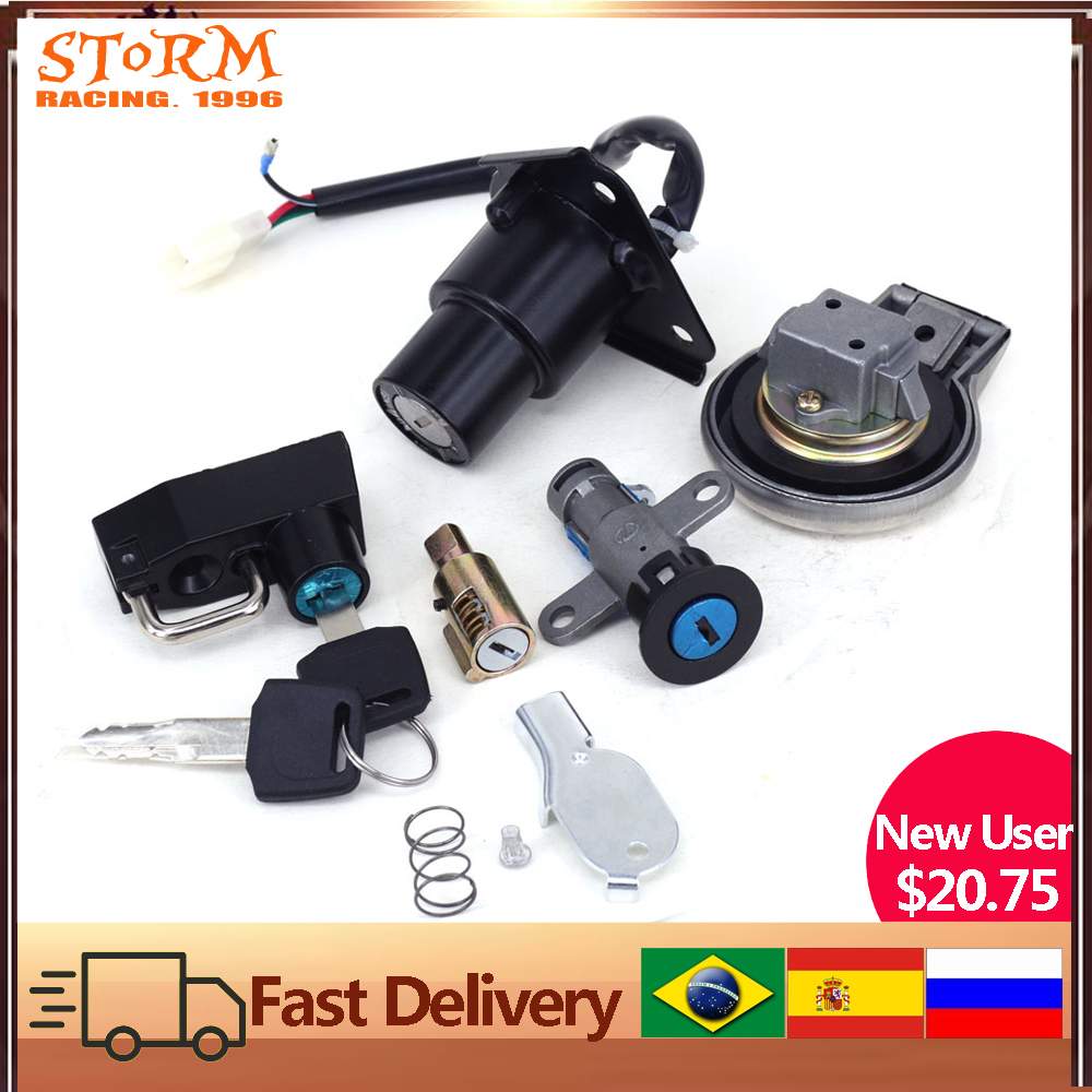Replacement Ignition Starter Switch Key Kit with Fuel Gas Cap for Yamaha XVS 125 250 400//C 650 1100 Drag Star//V-Star Topteng Motorcycle Ignition Switch
