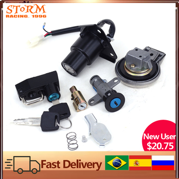 Motorcycle Ignition Switch Helmet Steering Seat Lock Key Fuel Gas Cap Set For Yamaha Virago XV125 XV250 XV 125 250 QJ250-H motorcycle carb intake carburetor connector pipe air joint boot interface adapter for yamaha virago xv 125 250 xv125 xv250 88 11