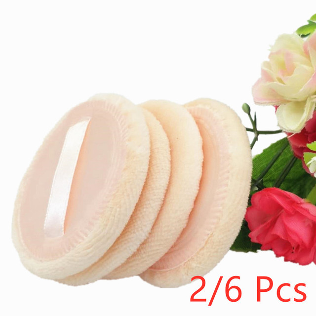 New 2020 Arrivals 2/6Pcs Women Beauty Facial Face Body Powder Puff Cosmetic Beauty Makeup Foundation Soft Sponge Girl Lady Gift