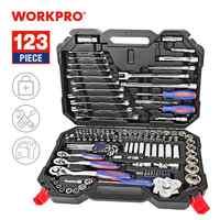 WORKPRO Tool Set Hand Tools for Car Repair Ratchet Spanner Wrench Socket Set Professional Bicycle Car Repair Tool Kits