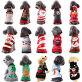 Свитер для собаки, Рождественская одежда для такса, чихуахуа маленькие собаки Трикотажный костюм с принтом «кошка теплые свитера; Зимняя од...