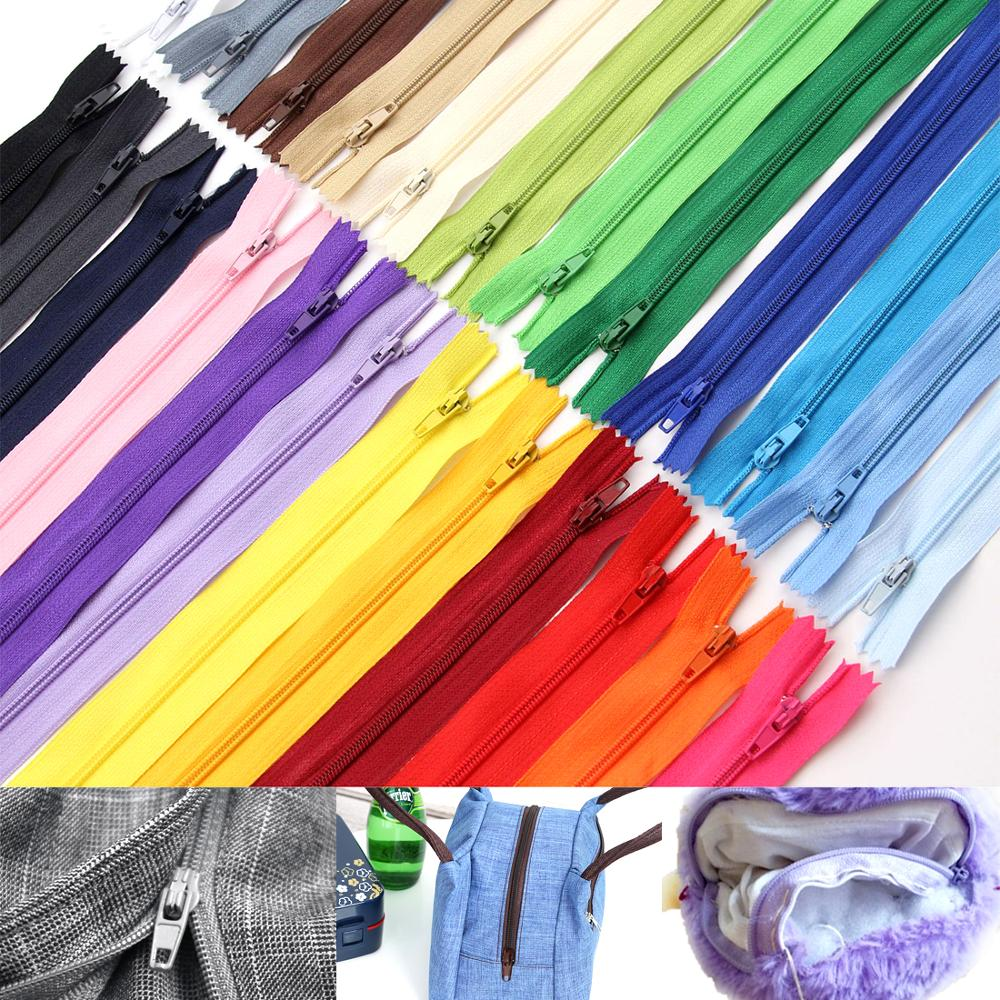 10Pcs/Pack Colorful High Quality 20cm Length Nylon Coil Zippers Tailor Garment Sewing DIY Handcraft Accessories Wholesale Retail