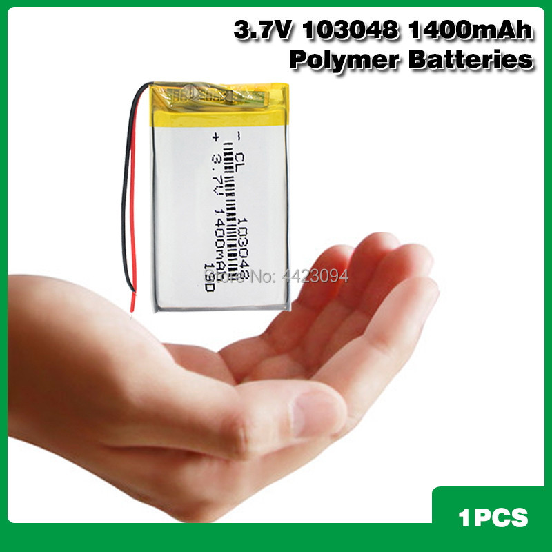 103048 Lithium Ion Polymer <font><b>3.7V</b></font> <font><b>1400mAh</b></font> Rechargeable Li Po Batteries Replace For Electric Razor Mobile Phone Power Bank image