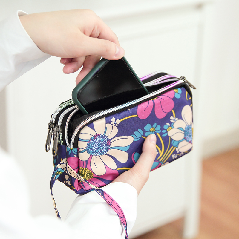 Women Passport Package Travel Wallet Portable Nylon Bags ID Card Wristlet Bag Purse Waterproof Cell Phone Pouch Handbag