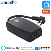 Lonsonho Outdoor Wifi Smart Plug US Socket IP44 Waterproof Tuya Life App Works With Alexa Google Home IFTTT