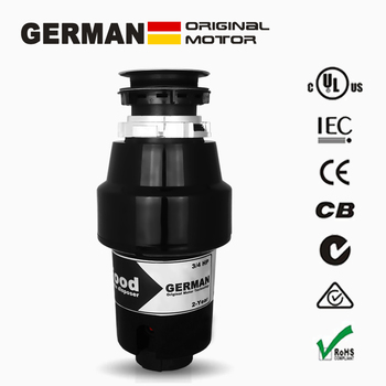 Немецкая технология мотора 850 Вт Быстрое и Легкое крепление кухонных пищевых отходов + воздушный переключатель, 3/4 hp держатель для мусорных ...