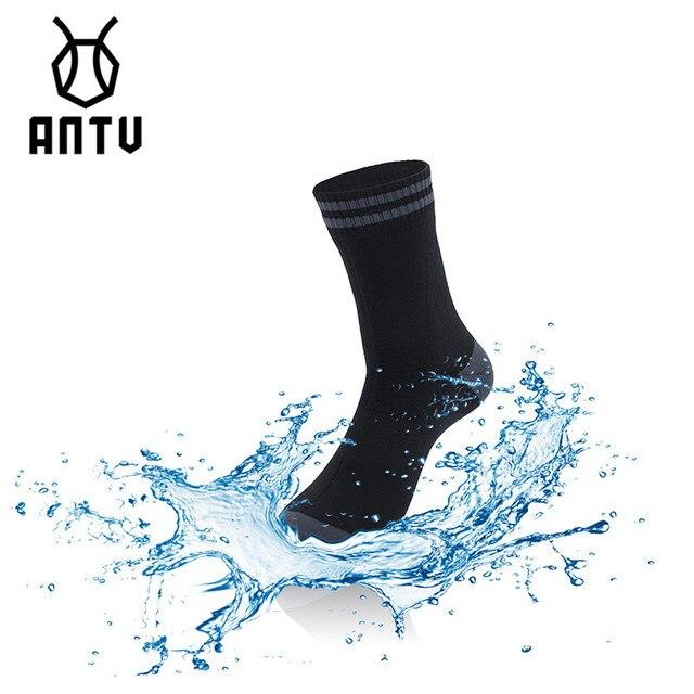 ANTUกันน้ำBreathableถุงเท้าน้ำหนักเบาฤดูร้อนTRAIL แห้งสำหรับเดินป่าการล่าสัตว์ตกปลาไม่มีรอยต่อกีฬากลางแจ้งUnisex