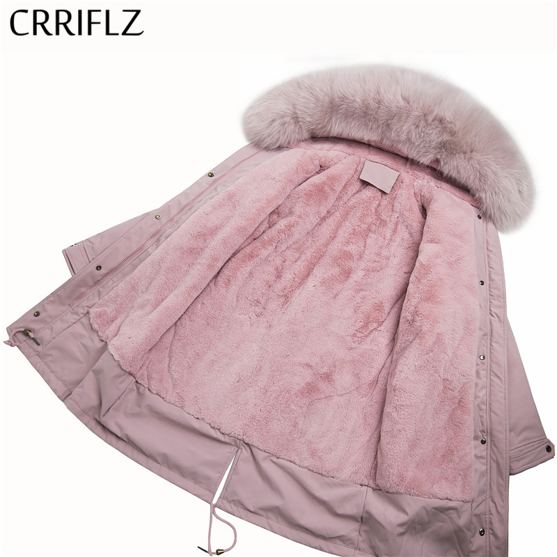 Women Long Coat Autumn Winter Warm Thicken Faux Fur Coats   Parka   Female Solid Jacket Outwear CRRIFLZ 2019 New Winter Collection
