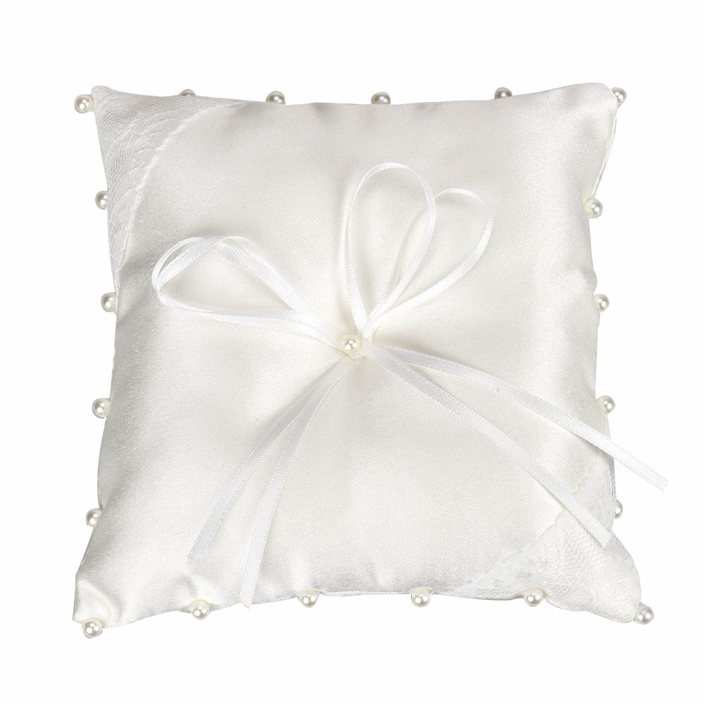 Lace Bowknot Flower Ring Bearer Pillow Cushion Decorated Bridal Wedding Ceremony Pocket Wedding Accessories Decoration