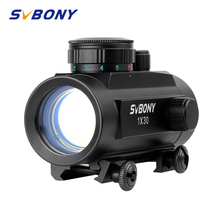 Svbony 1x30mm Sight Tactical Red Green Dot Riflescope Five Brightness Setting Reflex Sight Scope w/ 20mm Rail Mount F9148A