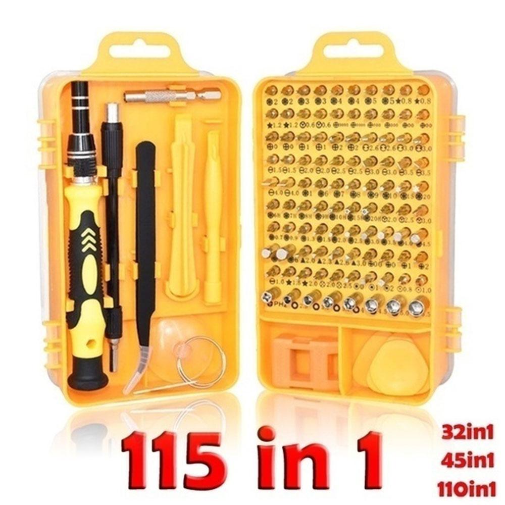 115 In 1 Screwdriver Set Chrome Vanadium Alloy Steel Repair Tool Durable Multi Function Magnetic  Screw Driver Bit Torx Ratchet