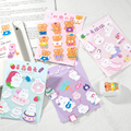 Yoofun 1 Pcs Nette Creme Kaninchen Bär Decor Aufkleber Scrapbooking Stick Label Tagebuch Album Aufkleber Kawaii Koreanische Schreibwaren
