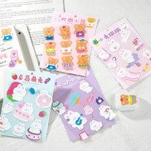 Yoofun 1 Pcs Cute Cream Rabbit Bear Decor Stickers Scrapbooking Stick Label Diary Album Stickers Kawaii Korean Stationery